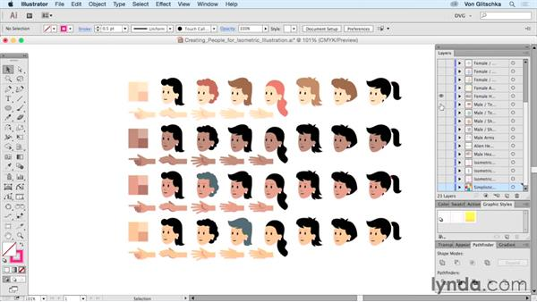 Creating people for isometric illustration: Drawing Vector Graphics: Isometric Illustration