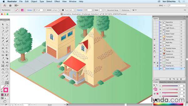 Isometric illustration solution: Build a house: Drawing Vector Graphics: Isometric Illustration