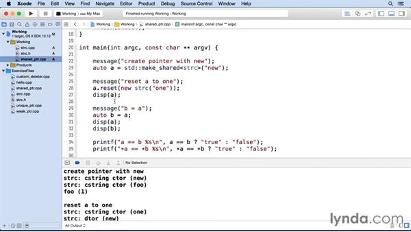 Creating a shared pointer: C++ Smart Pointers