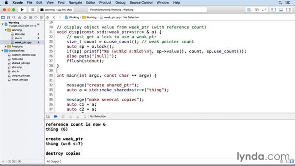 Using a weak pointer: C++ Smart Pointers