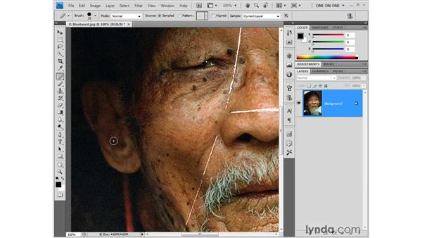 Fixing a problem edit: Photoshop CS4 One-on-One: Fundamentals