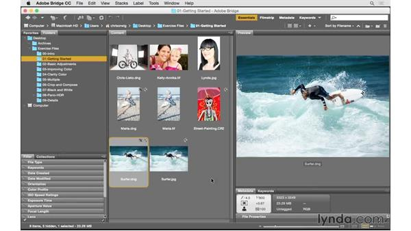 Opening files from Bridge: Photoshop CC for Photographers: Camera Raw 9 Fundamentals