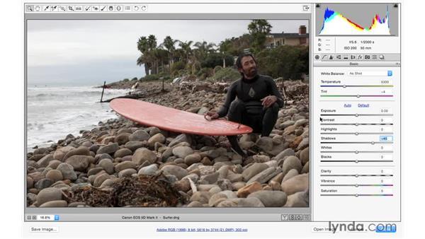 Improving underexposure: Photoshop CC for Photographers: Camera Raw 9 Fundamentals