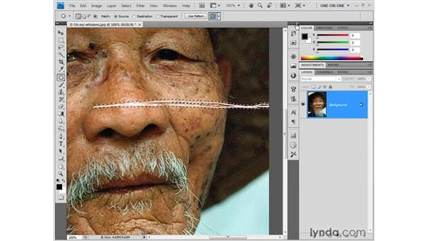 Combining Magic Wand and Patch: Photoshop CS4 One-on-One: Fundamentals