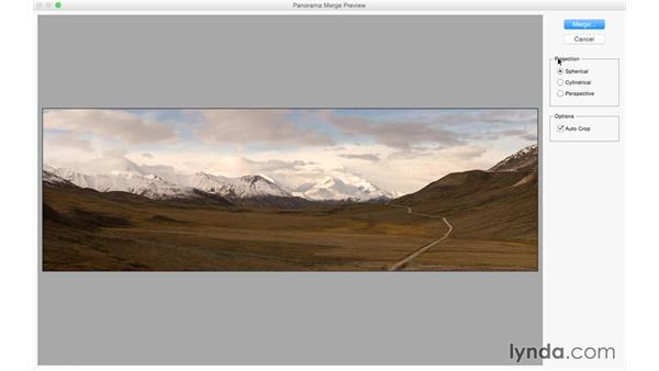 Creating a pano: Photoshop CC for Photographers: Camera Raw 9 Fundamentals