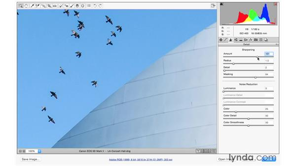Edge sharpening an architectural photograph: Photoshop CC for Photographers: Camera Raw 9 Fundamentals