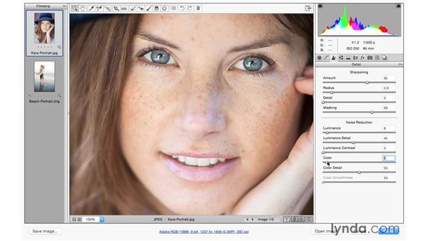 Sharpening portraits: Photoshop CC for Photographers: Camera Raw 9 Fundamentals