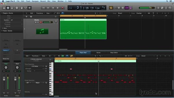 Moving, previewing, and replacing sounds: Drum Programming and Sampling with BATTERY