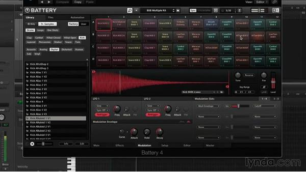 Advanced modulation: Drum Programming and Sampling with BATTERY