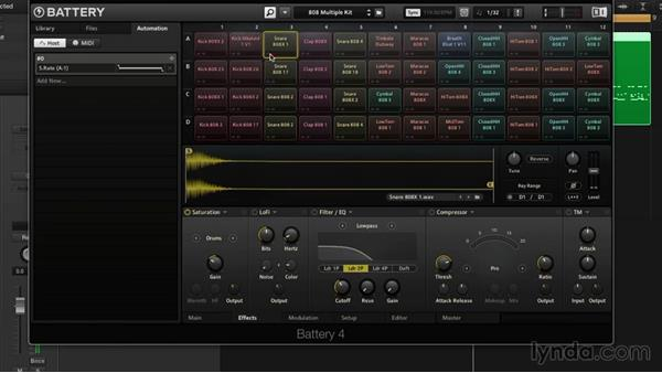 Controller routing and automation: Drum Programming and Sampling with BATTERY