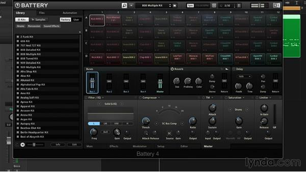 Master processing and FX: Drum Programming and Sampling with BATTERY