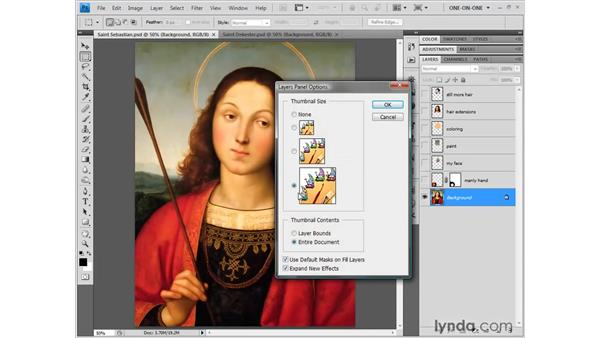 Introducing the Layers palette: Photoshop CS4 One-on-One: Fundamentals