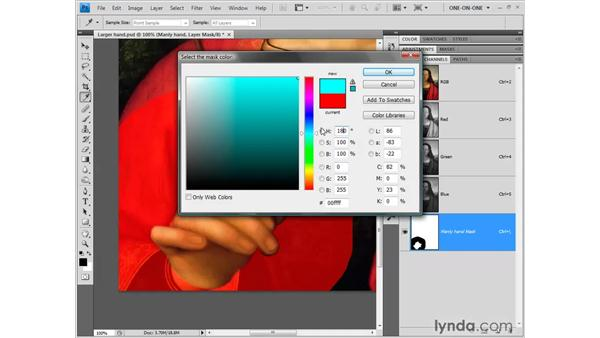 Exploiting the visibility of a layer mask: Photoshop CS4 One-on-One: Fundamentals