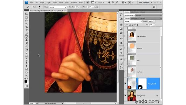 Moving a layer: Photoshop CS4 One-on-One: Fundamentals