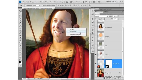 Auto-switching between layers: Photoshop CS4 One-on-One: Fundamentals