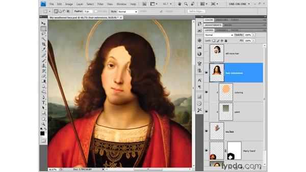 Changing the stacking order: Photoshop CS4 One-on-One: Fundamentals