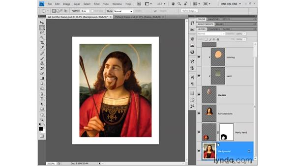 Expanding the canvas size: Photoshop CS4 One-on-One: Fundamentals