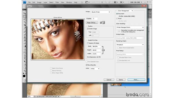 Refreshing the print preview: Photoshop CS4 One-on-One: Fundamentals