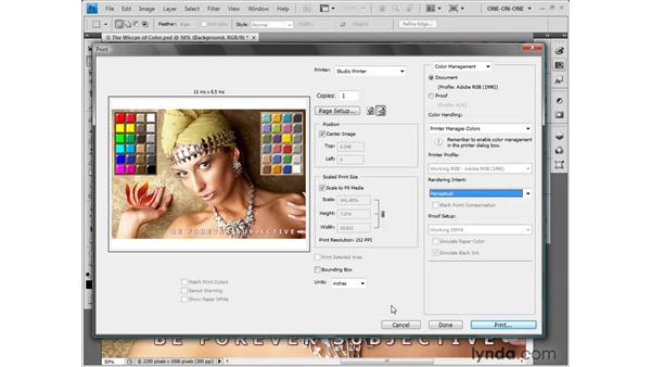 Color management options: Photoshop CS4 One-on-One: Fundamentals