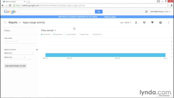 Working with reports: Administering Google Apps