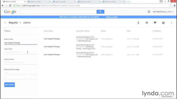 Understanding audits and alerts: Administering Google Apps