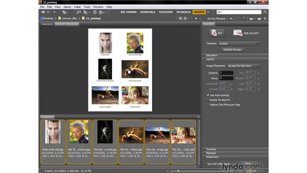 Outputting PDF contact sheets: Photoshop CS4 One-on-One: Fundamentals