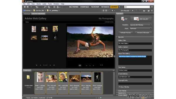 Creating a Flash-based web gallery: Photoshop CS4 One-on-One: Fundamentals