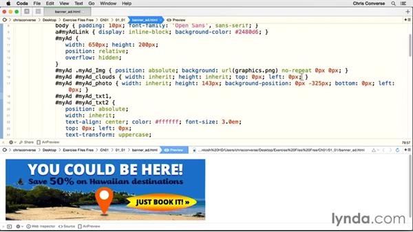 Moving and looping the clouds: Creating an HTML5 Banner Ad with GreenSock (GSAP)