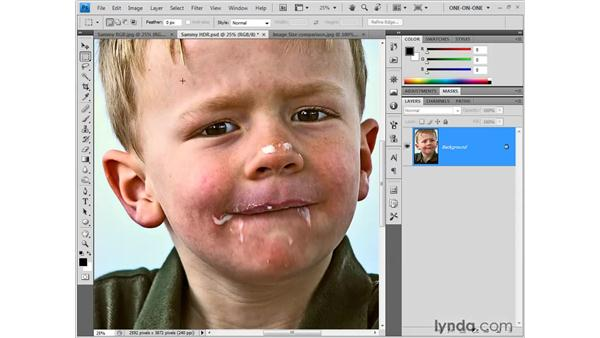 Building a figure in miniature: Photoshop CS4 One-on-One: Fundamentals