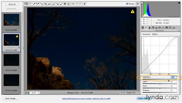 Post-processing images with Adobe Bridge: Shooting a Nighttime Time-Lapse Video