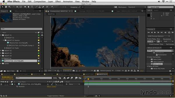 Assembling the time-lapse in Adobe After Effects CC: Shooting a Nighttime Time-Lapse Video
