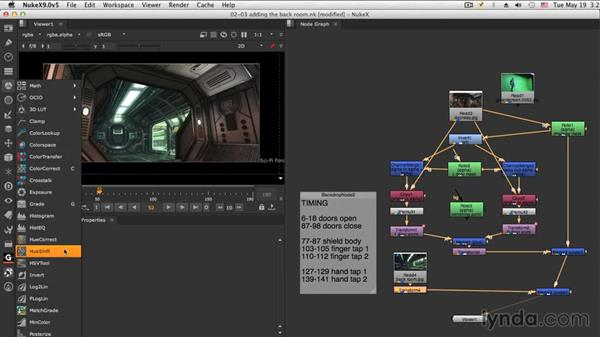 Adding the back room: NUKE Compositing: Sci-Fi Force Field