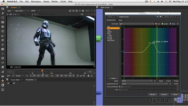 The spill suppression: NUKE Compositing: Sci-Fi Force Field
