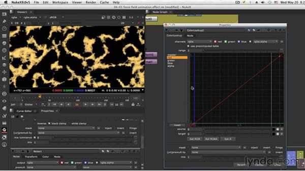 The force field animation effect: NUKE Compositing: Sci-Fi Force Field