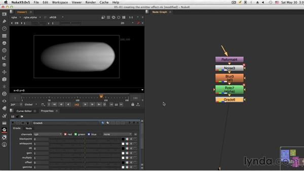 Creating the emitter animation: NUKE Compositing: Sci-Fi Force Field