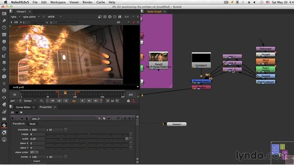 Positioning the emitters: NUKE Compositing: Sci-Fi Force Field