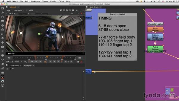 Timing and integration: NUKE Compositing: Sci-Fi Force Field