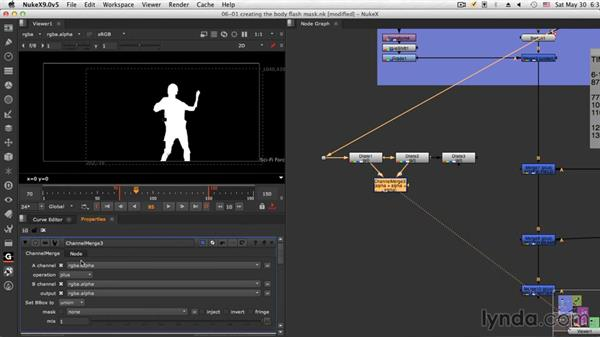 Creating the body flash mask: NUKE Compositing: Sci-Fi Force Field
