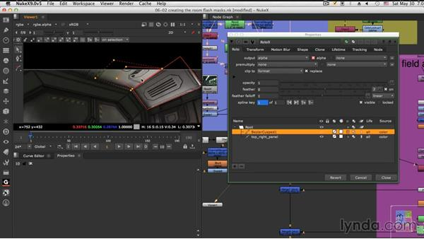 Creating the room flash mask: NUKE Compositing: Sci-Fi Force Field
