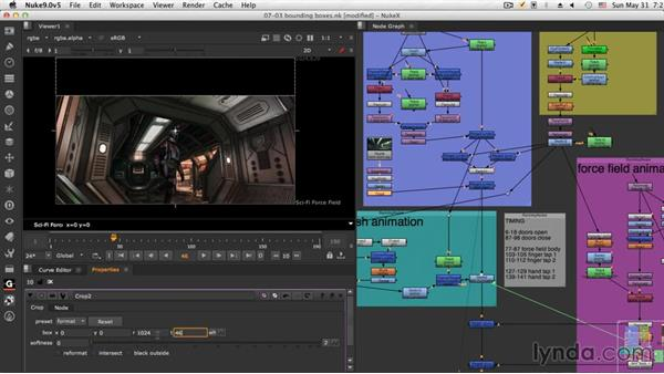 Controlling bounding boxes: NUKE Compositing: Sci-Fi Force Field