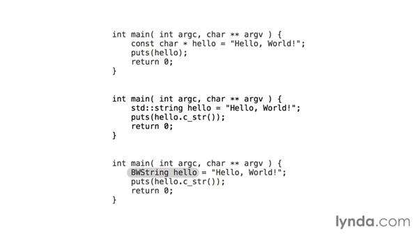 Why build a string library?: C++ Building a String Library