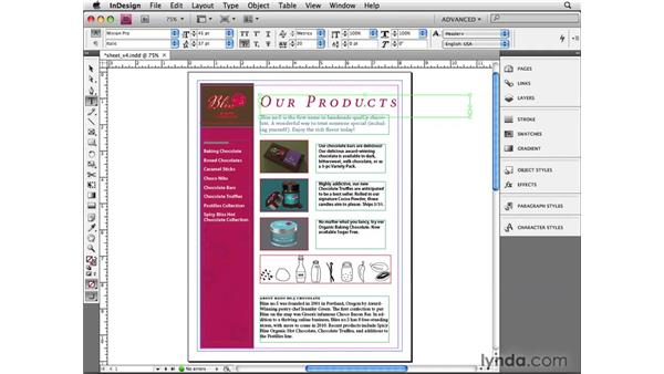 Reviewing Control panel shortcuts: InDesign CS4 Beyond the Basics
