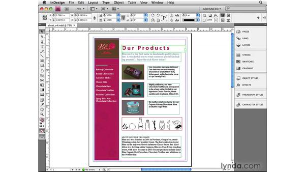 Using Selection tool clicks: InDesign CS4 Beyond the Basics