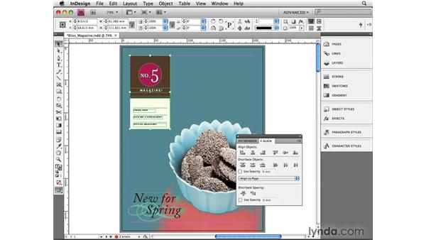 Aligning objects to a page: InDesign CS4 Beyond the Basics