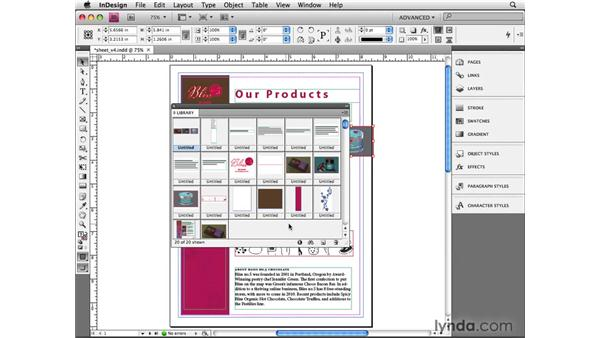 Using advanced libraries: InDesign CS4 Beyond the Basics
