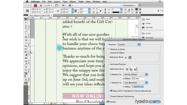 Using advanced anchored objects: InDesign CS4 Beyond the Basics