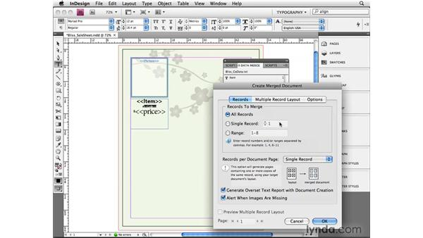 Using Data Merge: InDesign CS4 Beyond the Basics