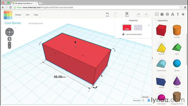 Scaling and changing dimensions: Up and Running with Tinkercad