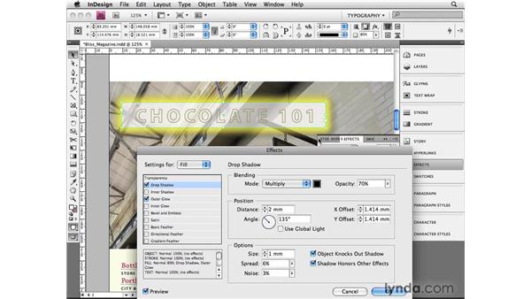 Using advanced effects: InDesign CS4 Beyond the Basics
