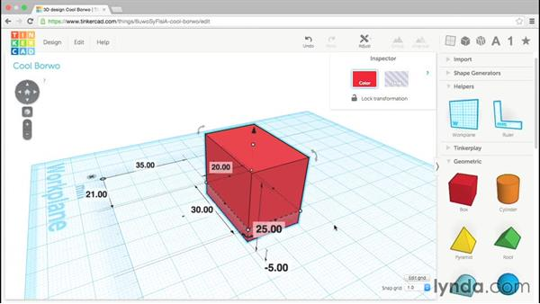 Measuring with the Ruler: Up and Running with Tinkercad